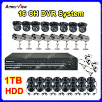 Wholesale H CCTV Surveillance DVR System CH Channel x Indoor amp Outdoor Security Cameras TB HDD CC