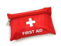 Sac de secours de premiers secours Sac rouge de médecine Sac de premiers secours de camping 12piece / set # 1917