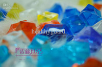 Wedding ECO Friendly  Royal Crystal Diamond stone Colorful Acrylic stone wedding home garden fish tank DIY decor great for artifical flower 1200pcs lot 600pcs lot