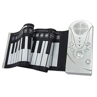 Wholesale Hand scrolling piano keyboard portable folding silica gel piano touch MIDI function