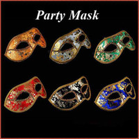 Wholesale Venetian Costume Masquerade Princess Party Prom Mask Half Face New Free Ship V3222