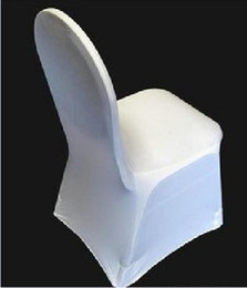 Wholesale 100pcs white spandex banquet chair cover for hotel party wedding flat front