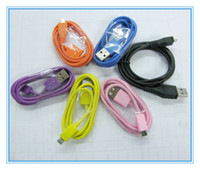 Wholesale Colorful Micro USB Sync Data charging Cable Universal for Mobile i9220 DEFY MB525 BB etc