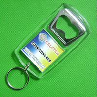 Wholesale 10X BlANK RECTANGLE BOTTLE OPENER KEYCHAINS LITE BEER METAL INSERT PHOTO