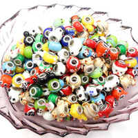 Animal animal shaped glass beads - Animal Shape With Spot Mixed color mm DIY Big Aluminum Hole Magic Crystal Loose Beads