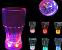 Wholesale LED light up Barware Plastic Water Beer Cola Glass Cup Mug Fancy for party bar home