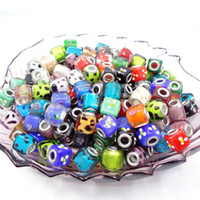 Cube aluminum beads - Mixed color Square mm mm DIY Big Aluminum Hole Magic Crystal Loose Beads