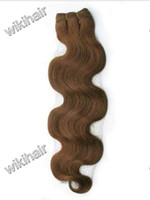 "Indian Hair #6 Remy 100% Indian virgin remy human weft hair weave extension 12""-28"" #6 body wave 100g pc EMS DHL free"