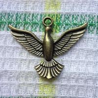 eagle pendant - 70pcs antique bronze antique silver eagle pendant zinc alloy jewelry accessories fashion pendant