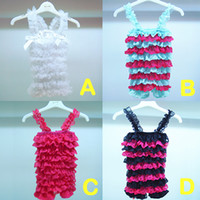 Wholesale Baby Girls Petti Romper Girl Lace Romper Tanks Rompers Baby Doll Dress Adult Baby Wear Kids Clothes