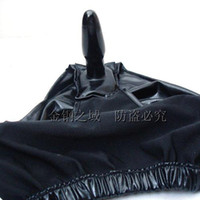 Wholesale New black pants with anal plug chastity device butt plug panty anal plug undershorts anal toys
