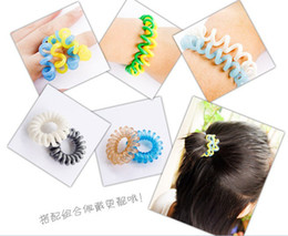 phone line hair ring   Tousheng   hair rope   not to hurt the hair   strong toughness