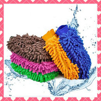 Wholesale Big Both Side Microfiber Chenille Mitt Car Wash Glove Cleaning Tool Supply Home Duster Cleaner