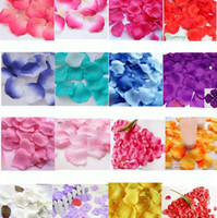 Wholesale Colorful Silk Rose Flower Petals Wedding Favors Festival Party Decoration bags