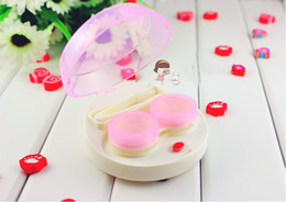 Wholesale HOTSELLING automatic cleaning transparent lovers lens case electronic contact lens case