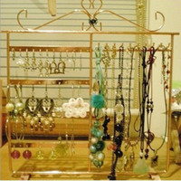 Wholesale hole hook multi function necklace bracelet earrings jewelry display rack stand HT1