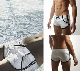 Wholesale Men s Swimming Swim Trunks Shorts Slim Sexy Swimwear Pants Color Size S M L V3234