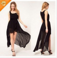 Asymmetrical apricot cocktail dress - sexy womens Asymmetric dress Cocktail Party Dress Apricot Black Wine Red color free size