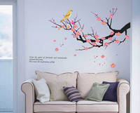 Wholesale Plum Blossom Flower Removable Wall Sticker Decor Decal Room Background Art V3237