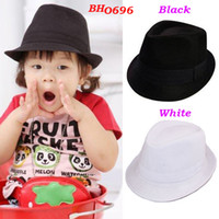 Wholesale Kids Fedora Hat Baby Top Hat Children Performance Cap Baby Gangster Hats Jazz Cap Infant Headwear
