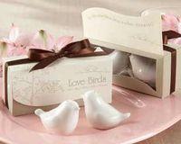 Wholesale Set Love Birds In The Window Ceramic Salt amp Pepper Shakers Wedding Favor