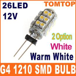 Wholesale G4 White K Warm white K SMD LED Light lamp Home Car Boat bulb V H8576W WW