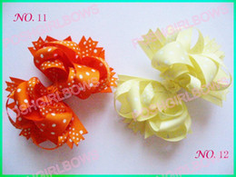 free shipping 30pcs 4.5'' Boutique hair bows Boutique Funky Hair Bow mix color girl hair clips