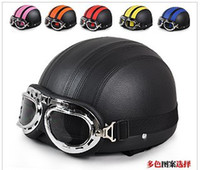 Wholesale Motorcycle helmet helmet summer helmet half helmet helmet leather helmet multicolor election