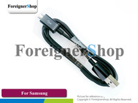 Wholesale 100 OEM For Samsung Galaxy S2 Note I9100 N7000 Micro USB Sync Data Cable ECC1DU4BBE