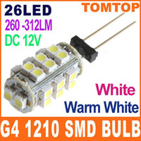 Wholesale 20pcs G4 White Warm white SMD LED Light lamp bulb for Home Car Boat use V H8576W WW