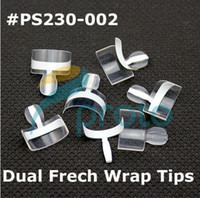 Wholesale AA025 Dual French Wrap Tips White Double Wrap Tips Wholesales PS230