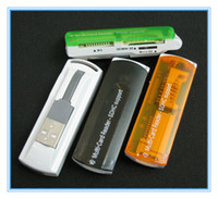 Wholesale USB All in Multi Card Reader High Speed support SDHC SD Micro SD TF MS Colors