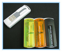 Wholesale USB All in Multi Card Reader High Speed support SDHC MS SD TF No retail package easycarry pc