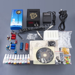 Wholesale New Complete Tattoo Kit Machine Guns Set Equipment Power Supply Color Set