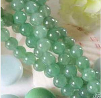 Wholesale 6mm Natural Green Jade Round Gemstone Loose Beads quot