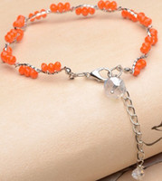 Wholesale Knited DIY Anklets Crystal Adjustable Fashion Anklets Gift RG77