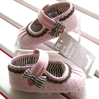 Wholesale Baby girls shoes Bow design First Walker Shoes baby shoes