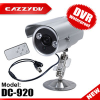 Wholesale Waterproof IR LED ARRAY CCTV Security DVR Camera with Micro SD Card TV Out Remote Control DC