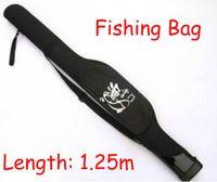 Black fishing rod bag - Free Ship Piece black Multi purpose M Fishing Tackle Lures Bag Fishing Pole Rod Line Bag