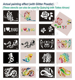 Wholesale 100pcs Big Size x15cm Tattoo Stencils for Body art Painting Temporary Glitter Tattoo Kit Mi