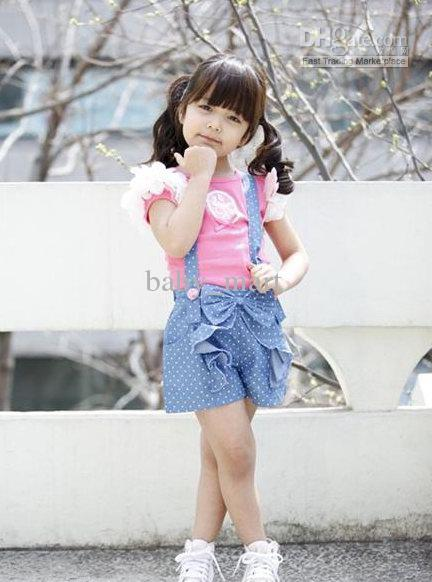 2013 new arrival fashion baby girls clothes suits t shirt + skirt pants 2pcs toddler outfit summer 5sets/lot wholesale