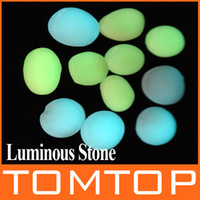 Decorative Stones   10pcs set Luminous Pebble Stone Lightweight garden fish tank swimming pool Decoration stones H8591