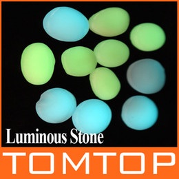 Wholesale 10pcs set Luminous Pebble Stone Lightweight garden fish tank swimming pool Decoration stones H8591