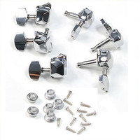 Wholesale Chrome Semiclosed Guitar String Tuning Pegs Tuners Machine Heads L3R