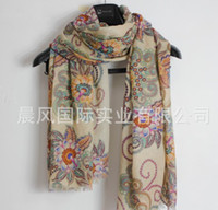 Printed Long Jacquard 2012 Fashion fall winter chili France Paris line models vintage totem womens national wind scarves