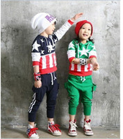 Wholesale Children National flag Tracksuits Kids boys and girls sweaters hoodies pants suits set TB4