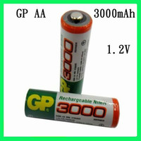 AA Rechargeable 1.2V Big Promotions Excellent GP AA 3000mAh 1.2V Rechargeable Ni-MH Battery Free EMS