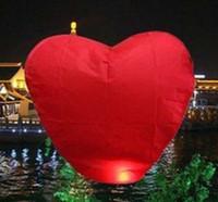 achat en gros de coeur souhait chinois-Sky Souhaitant lanternes feu ballon Kongming chinois lanterne lampe souhaits cadeau Livraison gratuite en forme de coeur