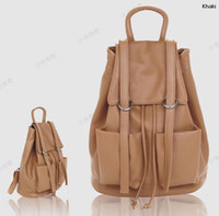 Wholesale Girl Preppy Style PU Backpacks Drawstring School Bag Casual Shopper Designer Traveling Case