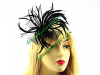 Wholesale New Handmade Clip Hair Fascinators Beautiful Feather Hair Fascinator colors available